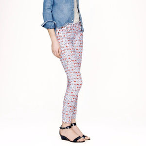 J Crew Toothpick ankle jeans Liberty Art Fabric 26
